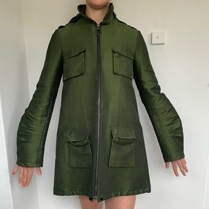 Alexander Wang Green Metallic Jacket